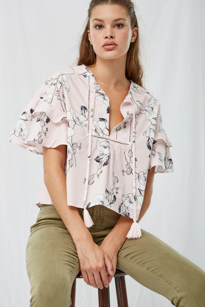 Sofia Floral Poplin Top SOLD OUT