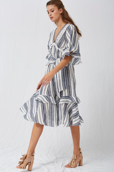 *Tisha Midi Stripe Dress*