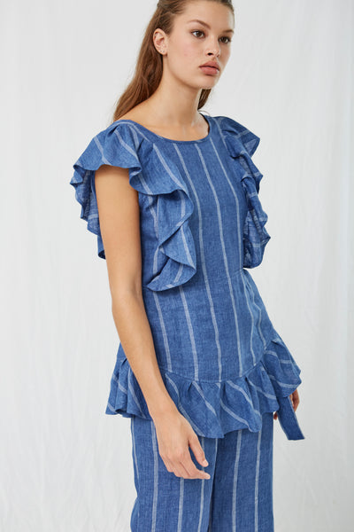 Hania Stripe Ruffle Tunic SOLD OUT