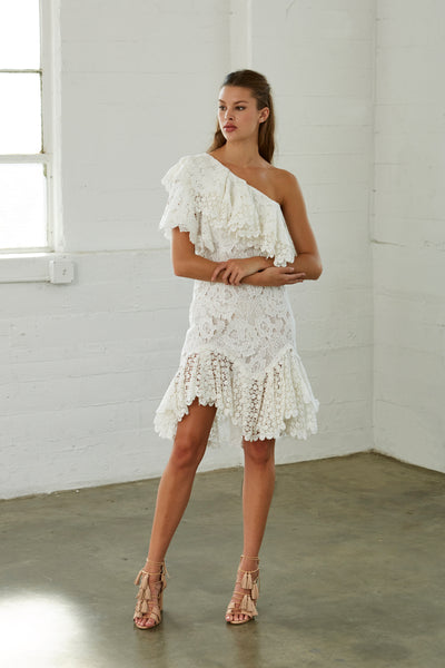 Lirienne One Shoulder Lace Dress SOLD OUT