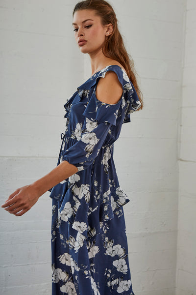 Luna Floral Print Silk Dress SOLD OUT
