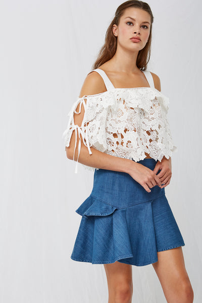 Rita Asymmetric Denim Skirt SOLD OUT