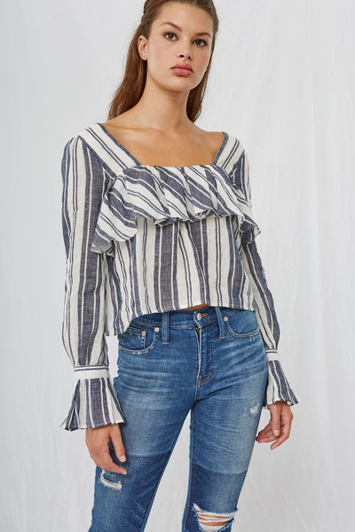 *Leola Stripe Square Neck Blouse*