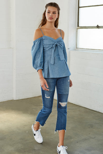 Derell Chambray Top SOLD OUT