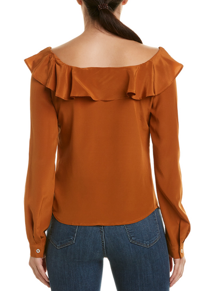*Liana Silk Blouse Bronze*