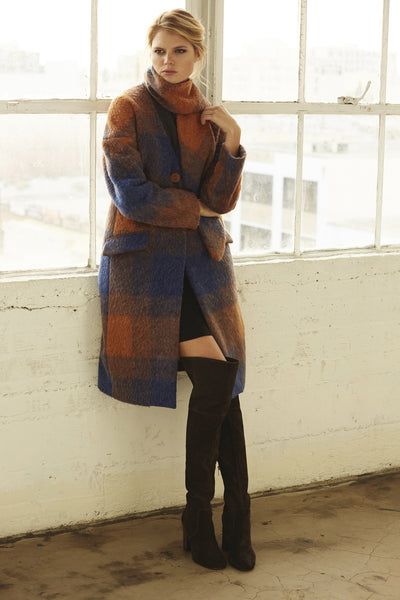 *Margo Mohair Plaid Coat*