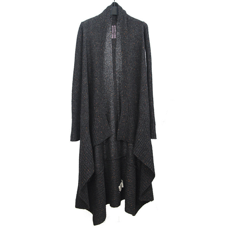 RICK OWENS FW12 LONG DRAPED WOOL KNIT CARDIGAN