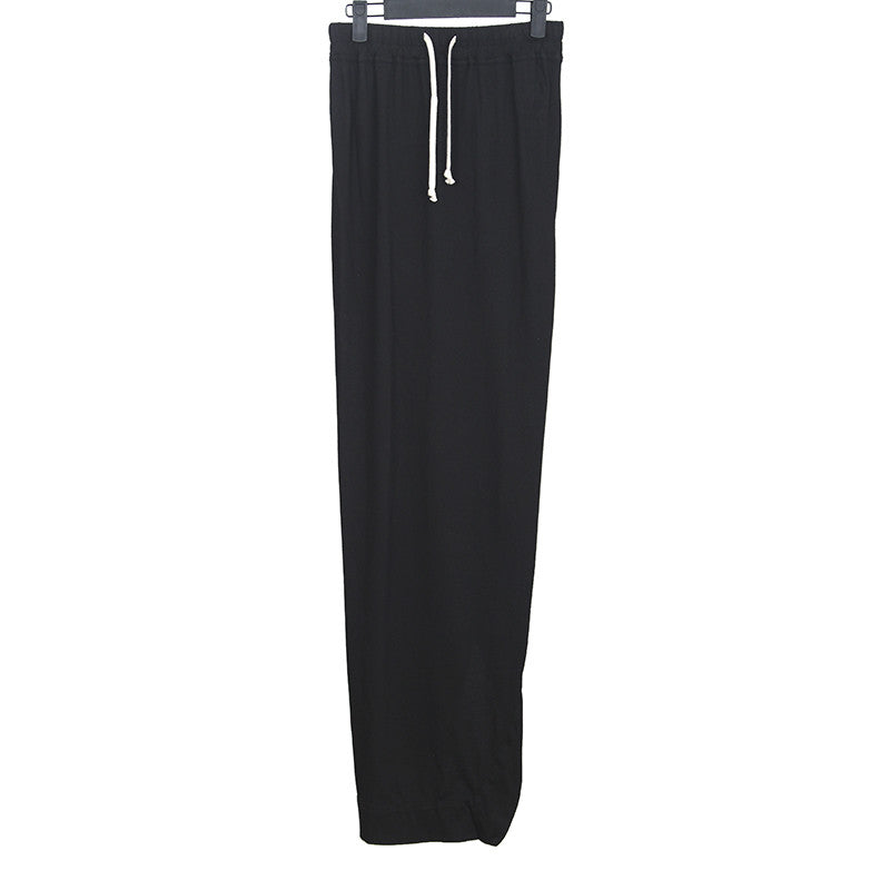 DRKSHDW BY RICK OWENS PILLAR LONG DRAWSTRING SKIRT