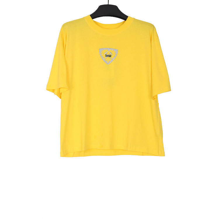 GMBH AW18 YELLOW EMBROIDERY LOGO PATCH TSHIRT