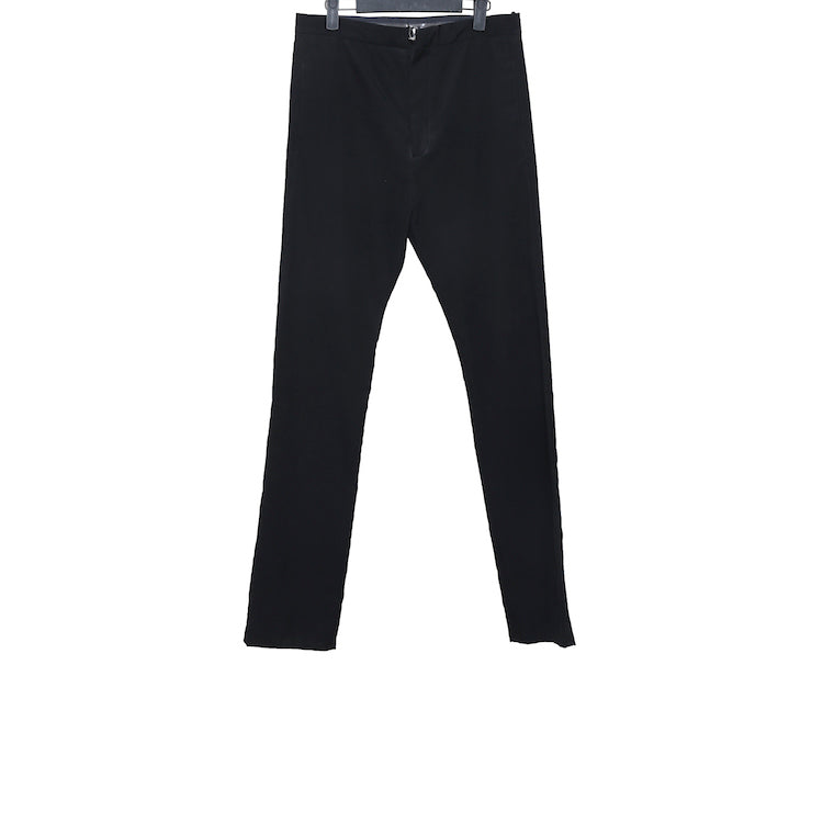 DEEPTI BLACK WOOL OPEN ZIPFLY CLASSIC TROUSERS