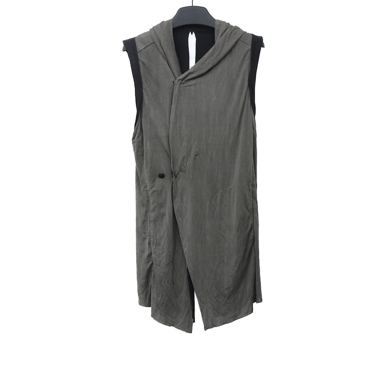 INDIVIDUAL SENTIMENTS SS13 BLACK CUPRA HOODED VEST
