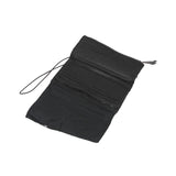 SIMONA TAGLIAFERRI CALF LEATHER CRINKLE EFFECT FOLDOVER FLAP LONG WALLET