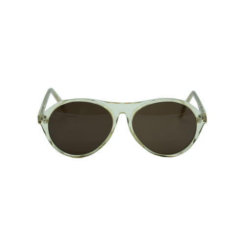MAISON MARTIN MARGIELA TRANSPARENT FRAME BLACK LENS SUNGLASSES