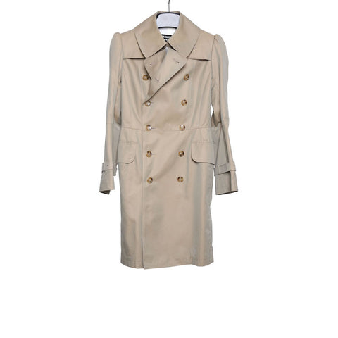 JUNYA WATANABE COMME DES GARCONS  DOUBLE BREASTED COTTON TRENCH COAT