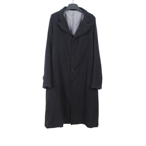 GEOFFREY B.SMALL WOVEN 5 OUT OF 5 STRIPPED COAT