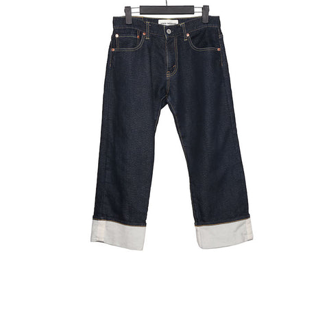 JUNYA WATANABE COMME DES GARCONS FISHERMAN CROPPED DENIM JEANS