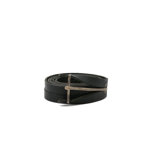 "M.A+ EY2C ""Y"" BUCKLE COW LEATHER MEDIUM BELT"