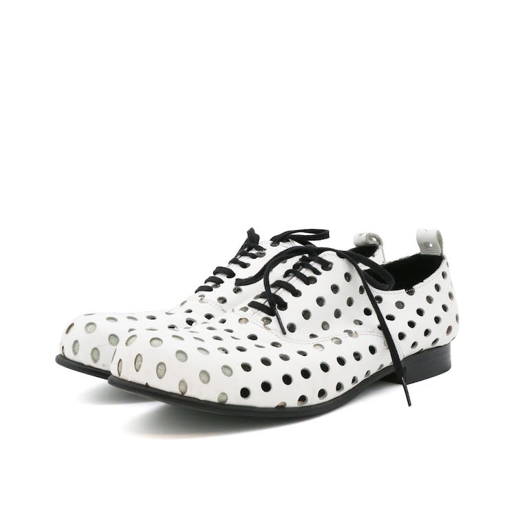 COMME DES GARCONS DOT CUT OUT LACE-UP SHOES