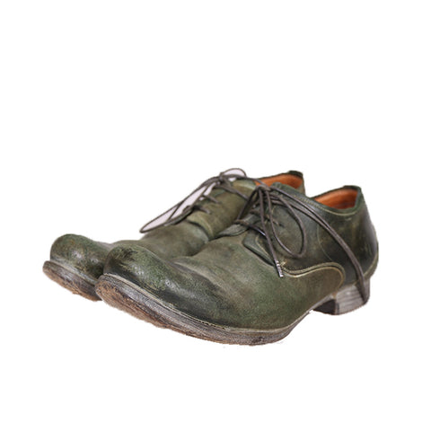 LAYER-0 LACE UP GREEN SHELL CORDOVAN REVERSE DERBIES