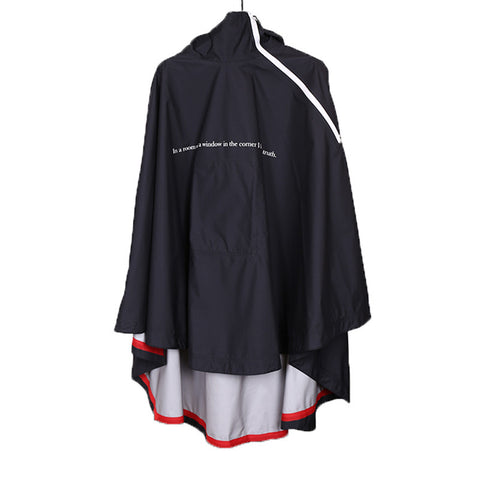 "UNDERCOVER 16SS ""THE GREATEST"" SHADOW PLAY SLOGAN HIGH-TECH RAINCOAT CAPE"
