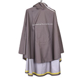 "UNDERCOVER 16SS ""THE GREATEST"" PSYCHO KILLER SLOGAN HIGH-TECH RAINCOAT CAPE"