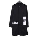 DRKSHDW BY RICK OWENS 16SS PATCHWORK WORKER LONG COAT