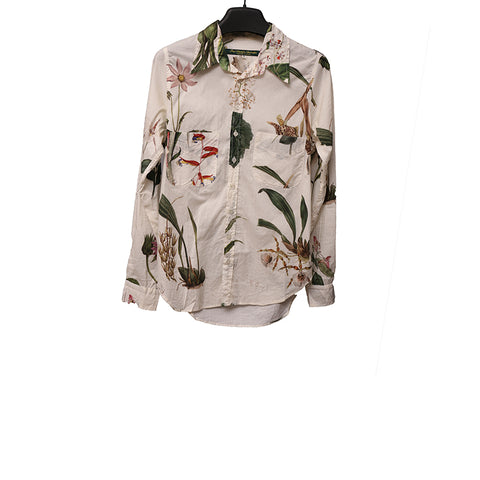 PAUL HARNDEN SHOEMAKERS 15SS 'FLOWER' PRINT  COTTON SHIRT WITH TWO POCKETS