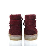 BALENCIAGA DISTRESSED CORDUROY SUEDE HIGH TOP SNEAKER