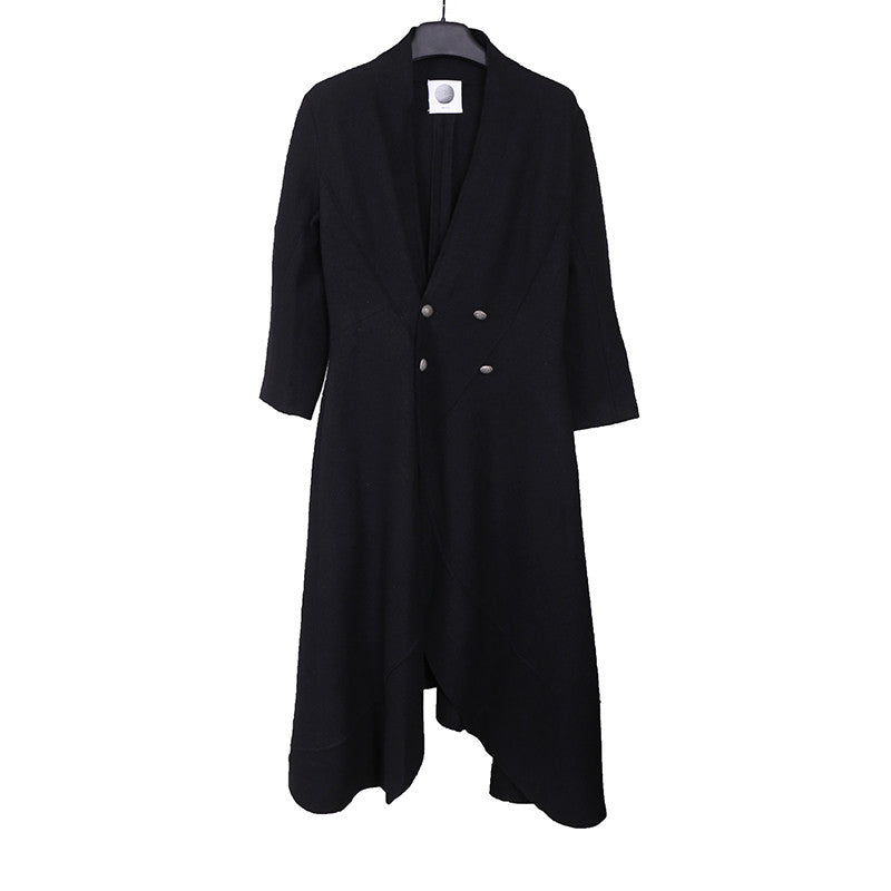 AGANOVICH 15AW FOUR BUTTON CLOSUE LAINE WOOL COAT
