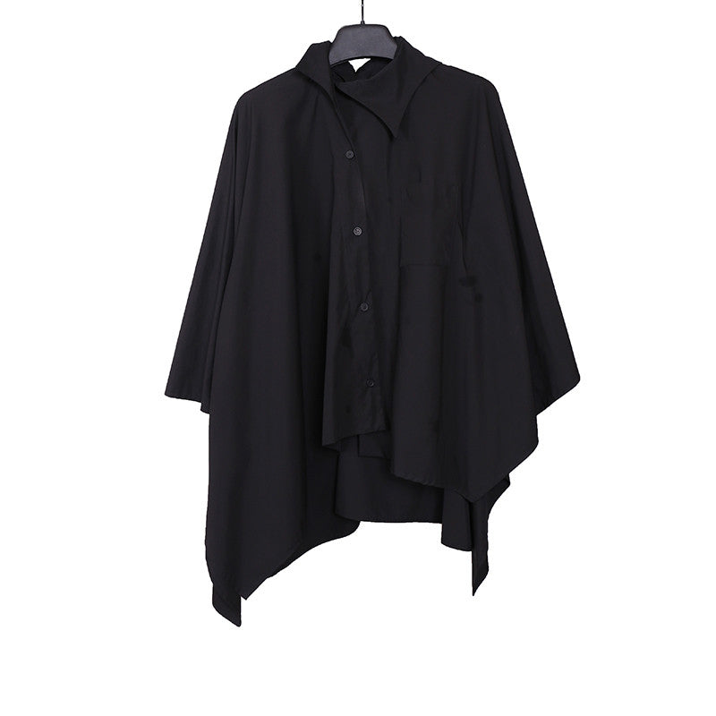 AGANOVICH 16SS TWO-WAY POP CAPE SHIRT