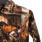 PAUL HARNDEN SHOEMAKERS 15AW 'PASTURE DOG' PRINT COTTON SHIRT