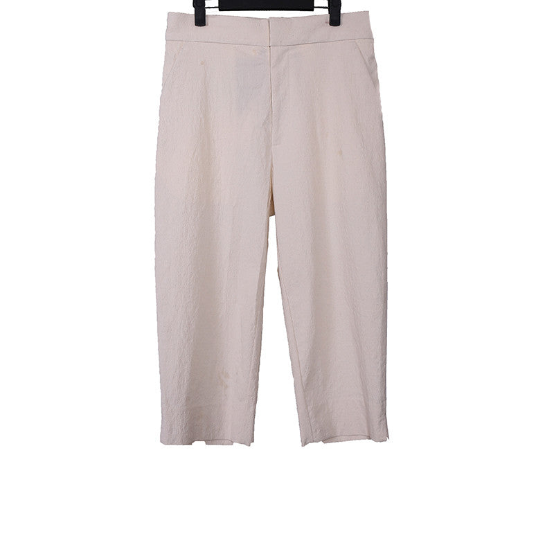 AGANOVICH 16SS PAPER CLASSIC STRAIGHT LEG CROPPED PANTS