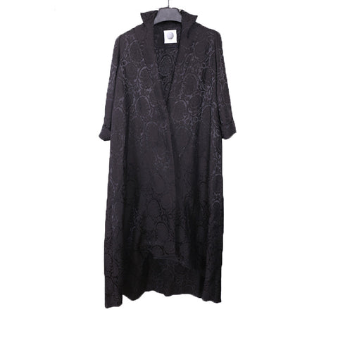 AGANOVICH 16SS STAND COLLAR JACQUARD LONG COAT