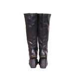 GUIDI 6010 HORSE FULL GRAIN PULL ON WEDGE BOOTS