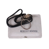 WERKSTATT MUNCHEN CHAIN LINK AND LEATHER STRAP KEYRING