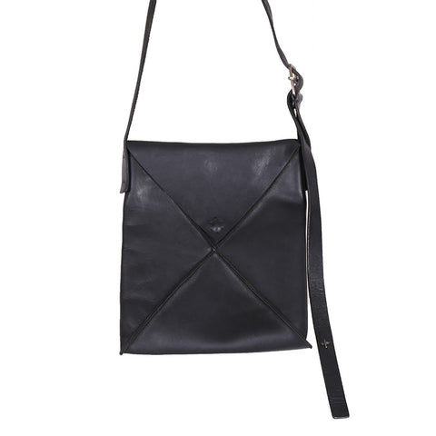 M.A+ BY MAURIZIO AMADEI VERTICAL ENVELOPE LEATHER SHOULDER BAG