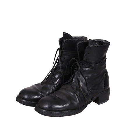 GUIDI 795Z HORSE LEATHER HIGH TOP LACE UP BOOTS