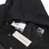 DRKSHDW RICK OWENS PADDED LEATHER SLEEVE DENIM SLAVE WORKER JACKET