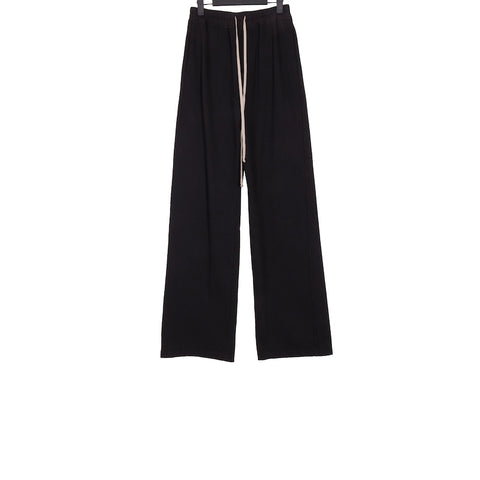 DRKSHDW  SS18 BLACK COTTON MASTODON DRAWSTRING PANTS