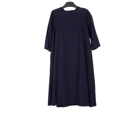 CASEY CASEY AW17 NAVY COTTON ROBE GEORGIE DRESS