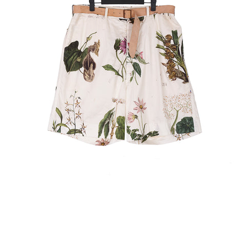 PAUL HARNDEN SS15 FLOWER PRINT MEN'S SHORTS WITH ADJUSTABLE BELT (COULD BE OVERSIZED FOR WOMEN)