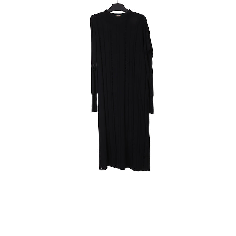 NEHERA AW17 BLACK EXTRA FINE MERINO LAYERED KNIT DRESS