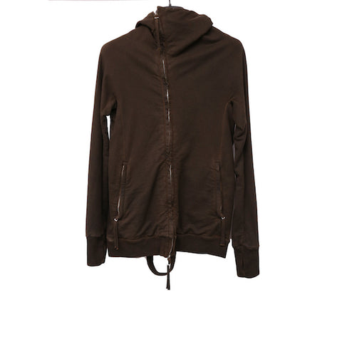 BORIS BIDJAN SABERI BLACK COTTON ZIPPER 2 NINJA HOODIE