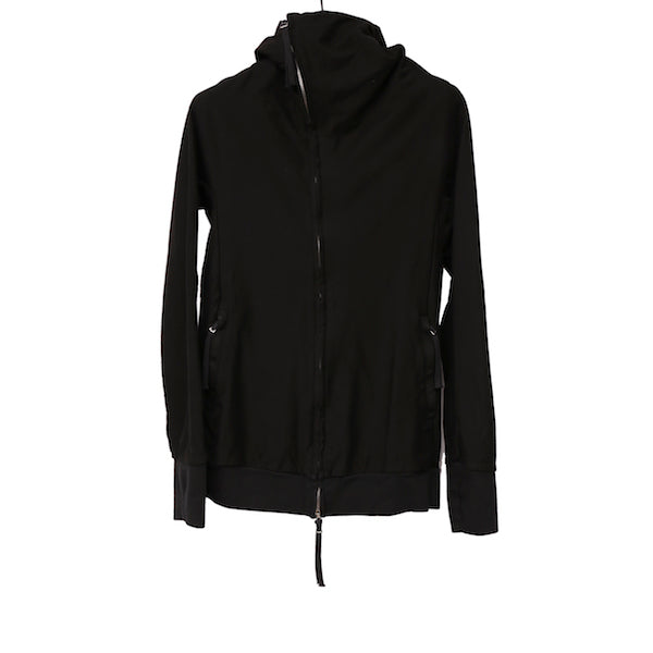 BORIS BIDJAN SABERI BROWN COTTON ZIPPER 2 NINJA HOODIE