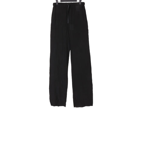 YANG LI SS18 BLACK DRAWSTRING TROUSERS