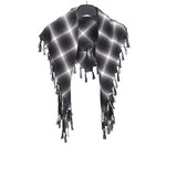 NUMBER (N)INE NINE PLAID SCARVES SHAWL