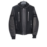 TIM COPPENS LEATHER / WOOL GLORY SHAWL BOMBER JACKET