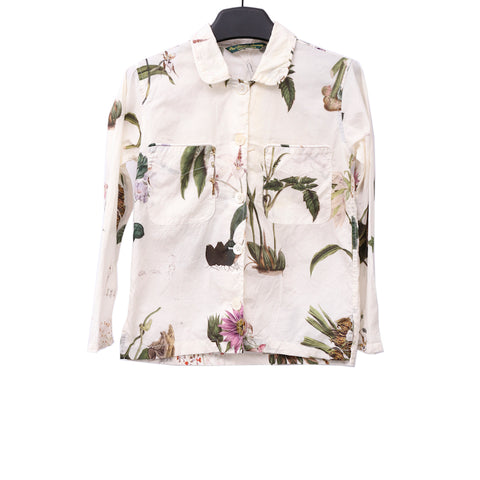 PAUL HARNDEN SHOEMAKERS COTTON FLORAL PRINTED WOMENS PYJAMA SHIRT