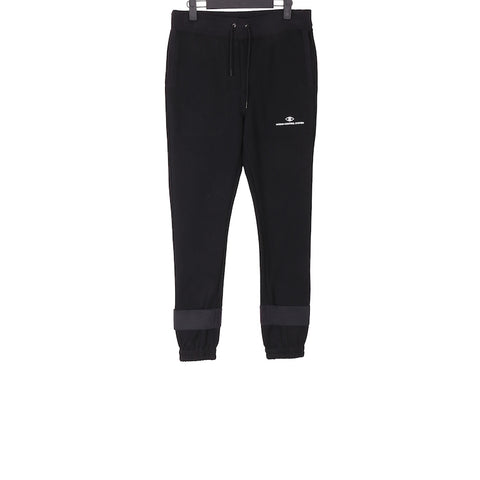 UNDERCOVER AW17 DRAWSTRING SWEATER PANT WITH CUFF DETAIL AND LOGO PRINTED