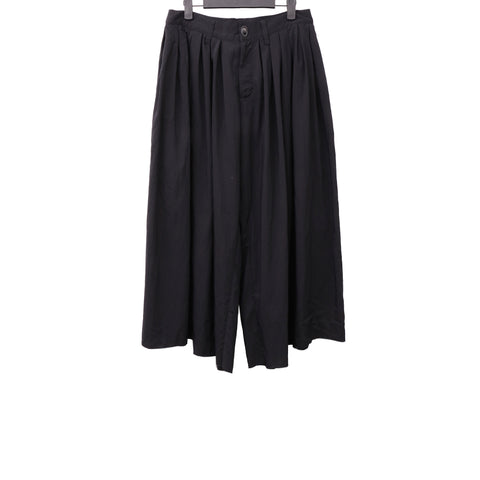 MISOMBER NUAN AW13 RAW EDGE OVERSIZE WIDE LEG CROPPED PANTS